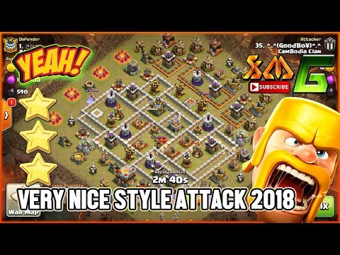 Clash of Clans⭐CLAN WAR👍VERY NICE STYLE RAID BY GROUND SKILL⭐STRONGEST PLAYERS !