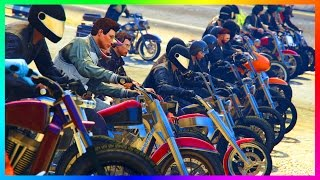 BECOMING A BIKER! - GTA 5 BIKERS UPDATE PREPARING w/ GTA ONLINE FREEMODE INSANE CHALLENGES & MORE!