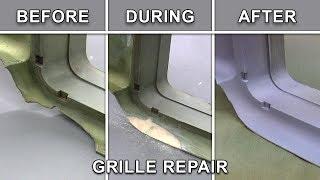 repair plastic abs vista cruiser grille with plastifix
