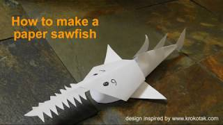 How to make a paper sawfish
