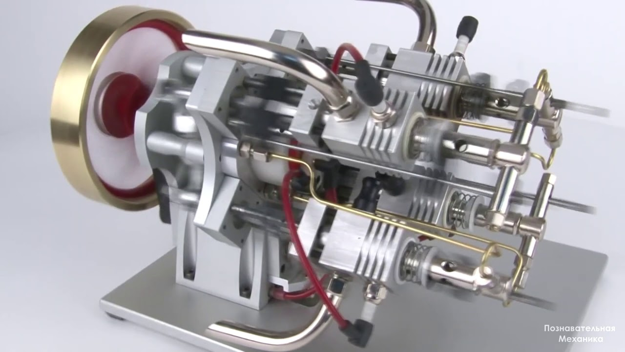 Газовый ДВС с автоматом перекоса