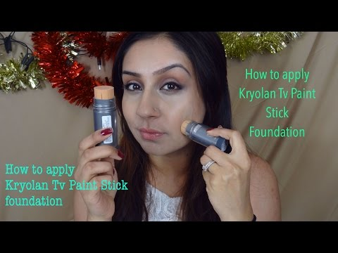 How to apply use Kryolan Tv Paint Stick Foundation    Makeup With Raji