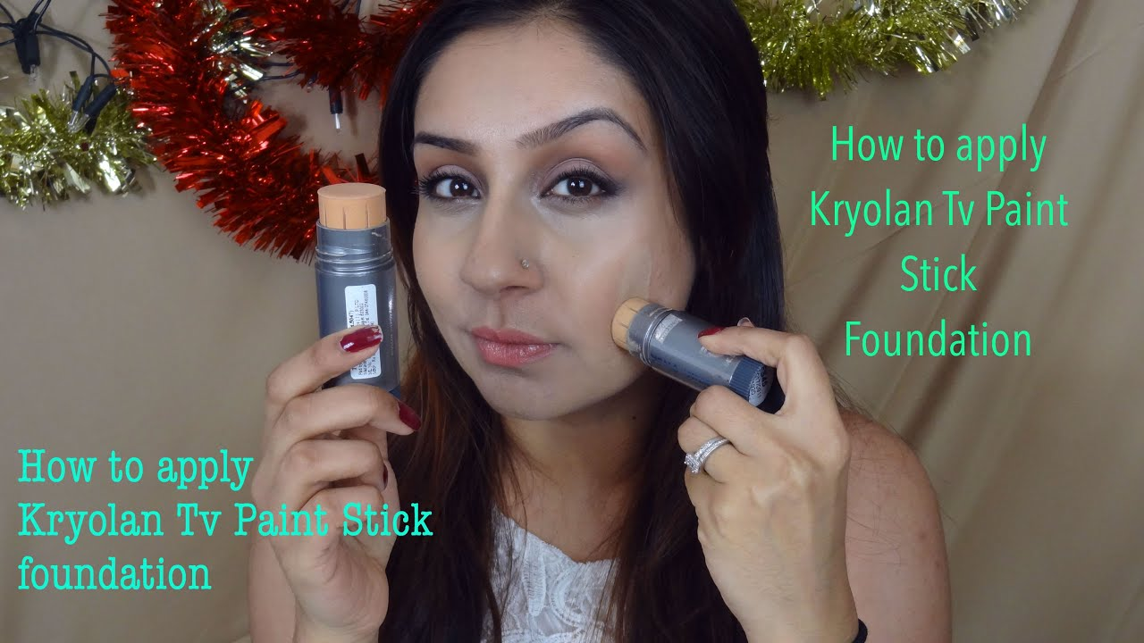 How to apply use Kryolan Tv Paint Stick Foundation || Makeup With Raji