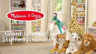 Melissa amp Doug Giant Lifelike Stuffed Animals