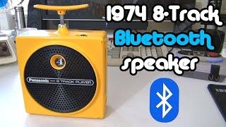 "Retro Reborn: 1974 Panasonic ""TNT"" portable 8-Track/Bluetooth player."