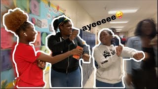 SINGING SONG LYRICS AND TELLING PEOPLE DO THE DANCE!