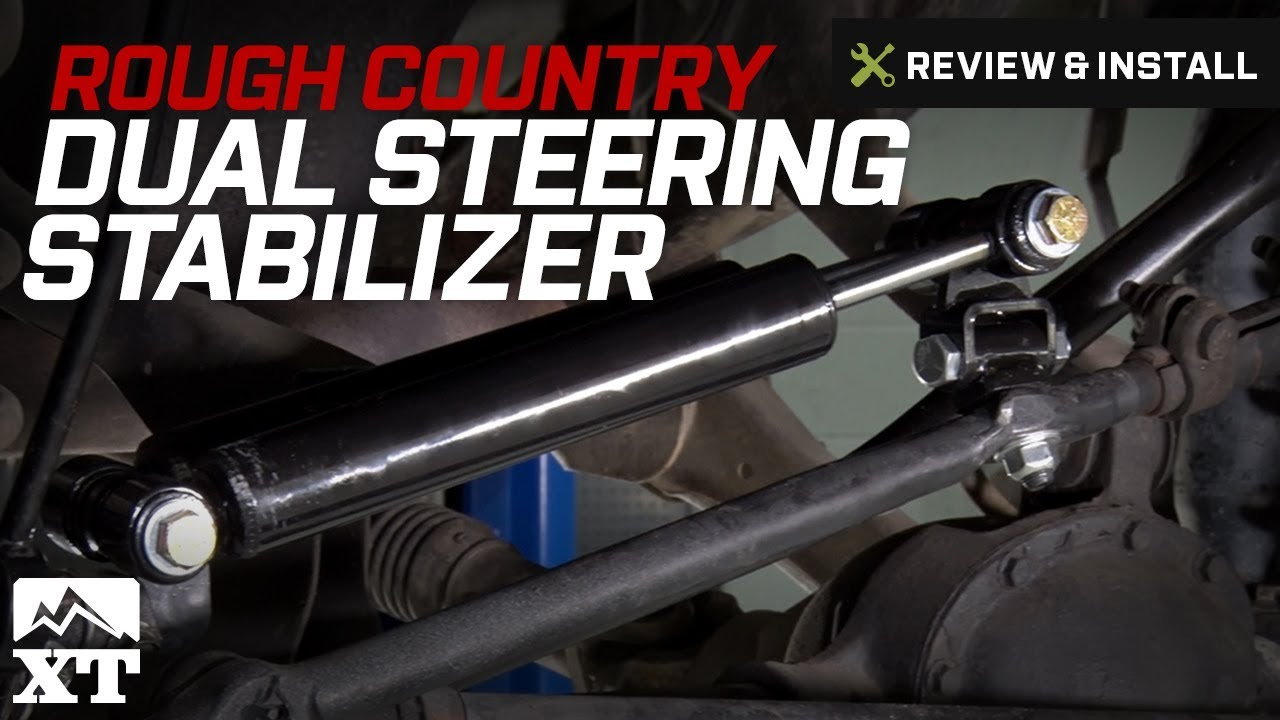 Jeep Wrangler (1997-2006 TJ) Rough Country Dual Steering Stabilizer Review  & Install