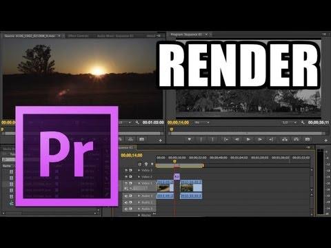 Adobe Premiere Pro - #6: Render