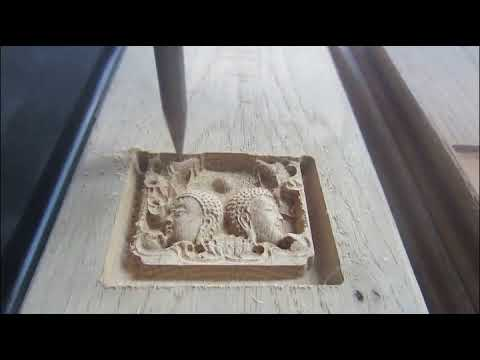 Mini abletec 3d wood engraving cnc router 6040 6090 for wood buddha