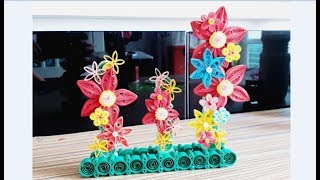 Paper Quilling Flower Decoration// Quilling for home decoration // Quilling Flower Design