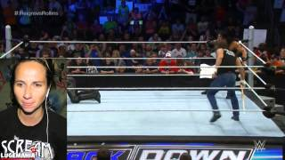 WWE Smackdown 7/2/15 Roman Reigns vs Seth Rollins