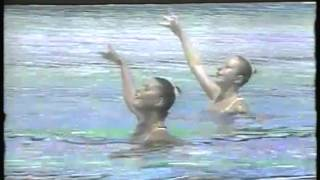 Olympics - 1984 Los Angeles - Synchronized Swimming - SUI Edith Boss & Karin Singer imasportsphile