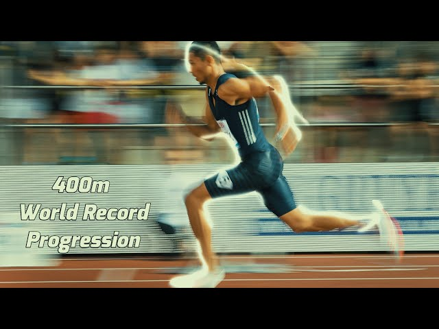 400m World Record Evolution leading to 42.9