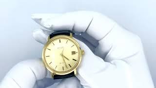 Vidéo: Montre Omega De Ville automatique de 1969 en or jaune 18 Cts. Ref 1031.