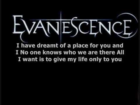 Evanescence - Anywhere Lyrics