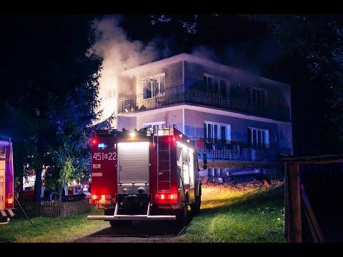14.10.2015 - Słopnice. Pożar budynku mieszkalnego
