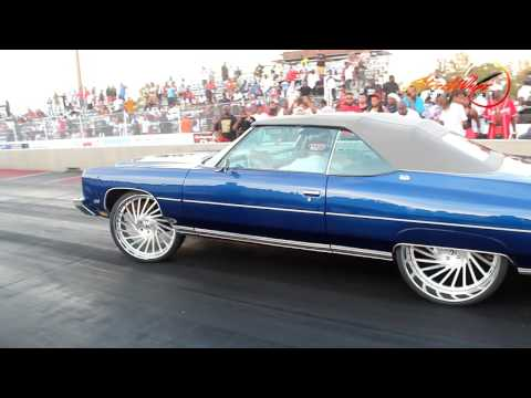SUPER CLEAN 1973 DONK FROM SOUTH FLORIDA MAKING A TEST PASS    FAST !!!!!!