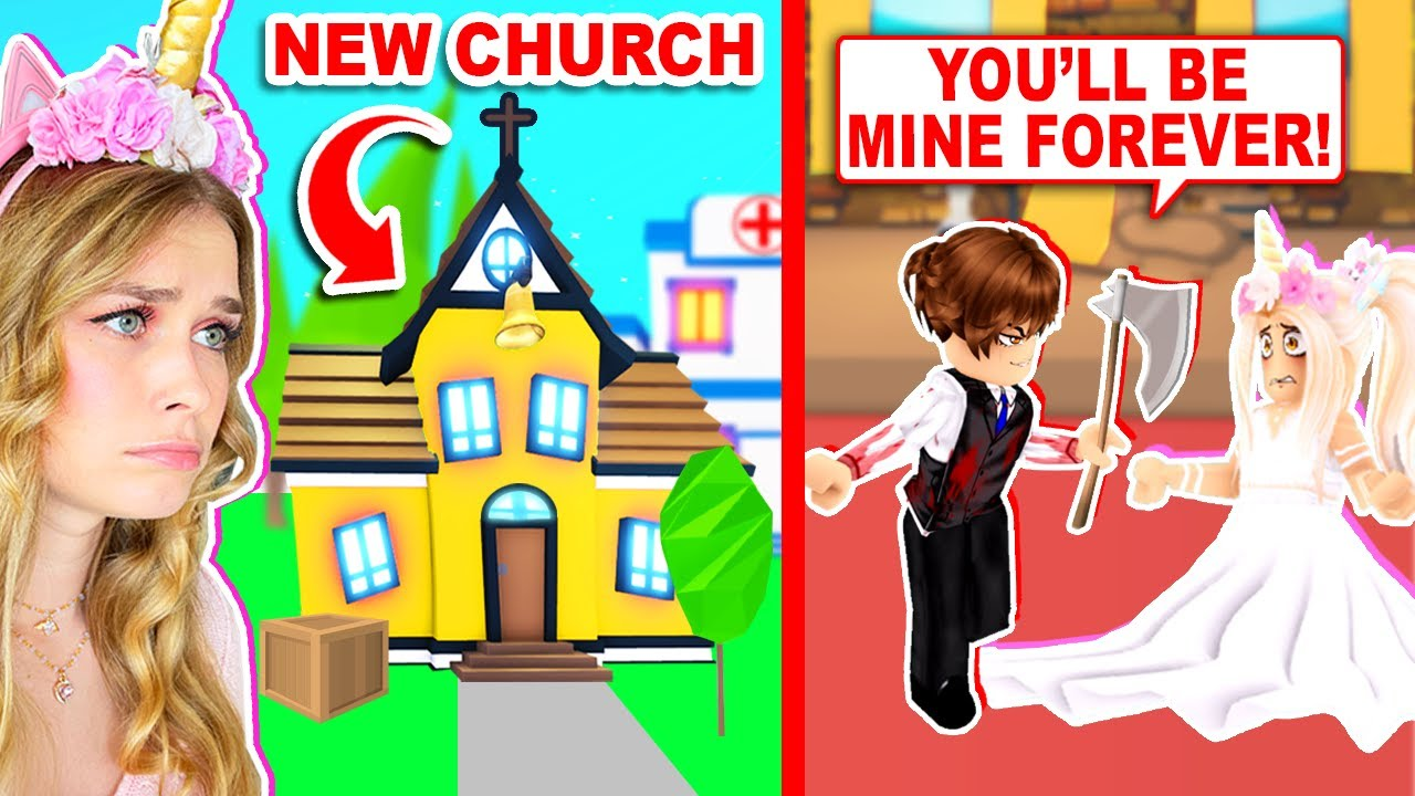 Having MY WEDDING In The *NEW* CREEPY CHURCH In Adopt Me ! (Roblox)