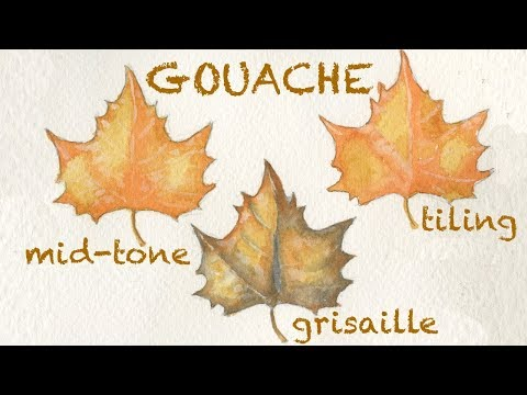 Gouache Techniques: Tiling, Grisaille, and Mid-tone Methods