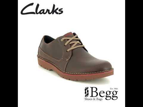 Clarks Vargo Plain G Fit Brown leather fashion shoes