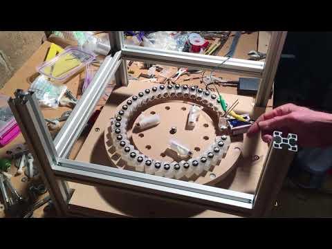Spiral Magnetic Motor Test Setup