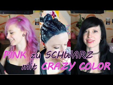 Pink schwarze haare