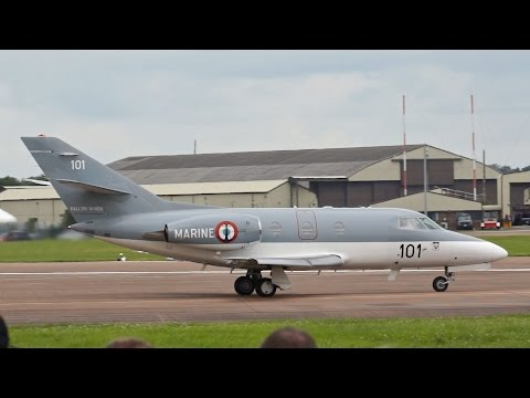 Dassault Falcon 10 MER French NAVY departure on Monday RIAT 2012 AirShow
