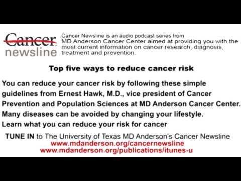 Top five ways to reduce cancer risk