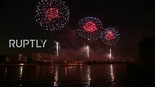 LIVE Rostec international festival of pyrotechnic art lights up Moscow sky: day 2 *MUTED*