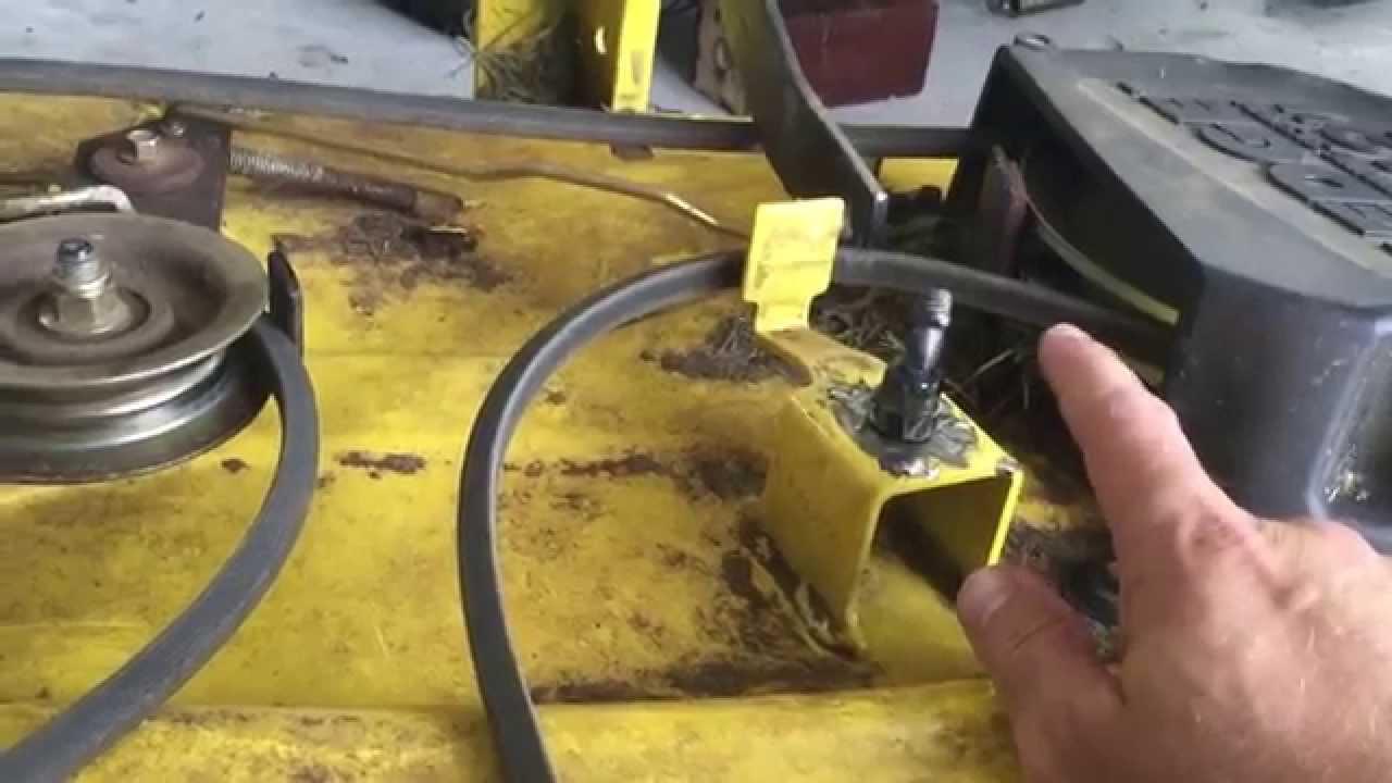 John Deere Lt155 Wiring Schematic John Deere Idler Pulley Fix Youtube