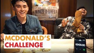 MCDONALD'S CHALLENGE   Who eats faster?