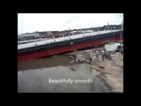 Airbag launch 1,200t barge