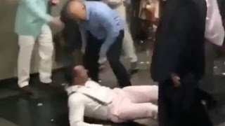 Guy Gets Knocked Out at Kentucky Derby!