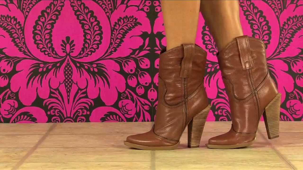 Jessica Simpson Abbee Boot in Tan - YouTube