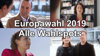 Alle Wahlwerbespots, Wahlspots der 41 Parteien in Deutschland zur Europawahl 2019