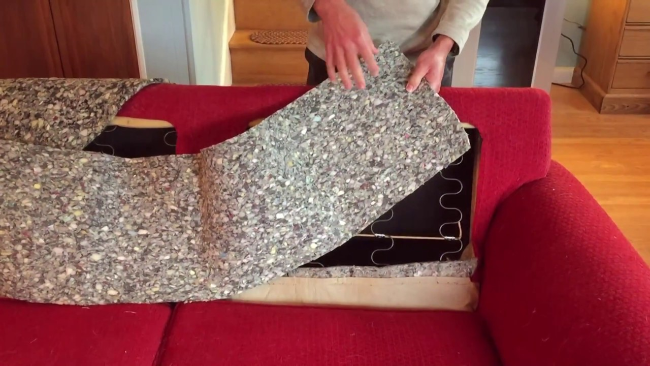 remove those attached back cushions quickly slipcover project part 1