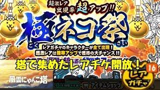 にゃんこ大戦争 極ネコ祭 16連!