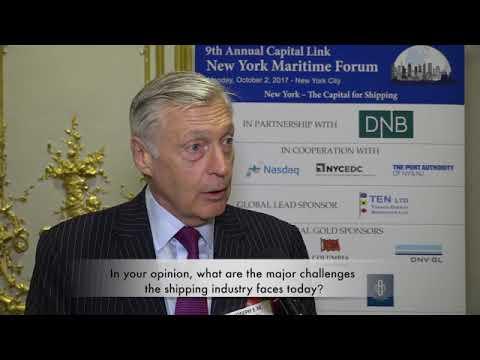 2017 9th Annual New York Maritime Forum - Mr. Joseph E.M. Hughes Interview