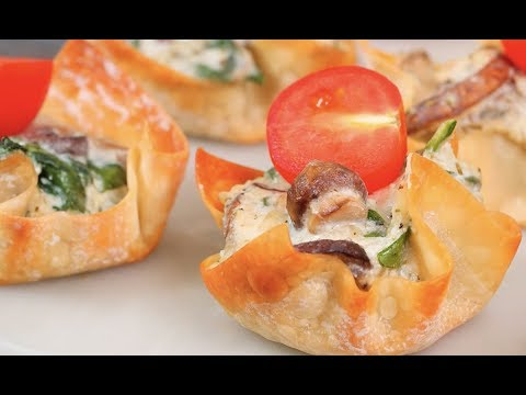 White Pizza Wonton Crunchers