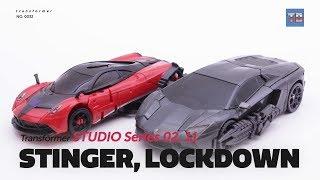 Transformers STUDIO SERIES SS-02 STINGER, SS-11 LOCKDOWN Robot toy Video