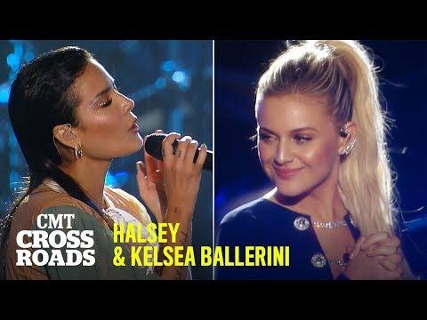 Halsey & Kelsea Ballerini Perform 'Graveyard'   CMT Crossroads