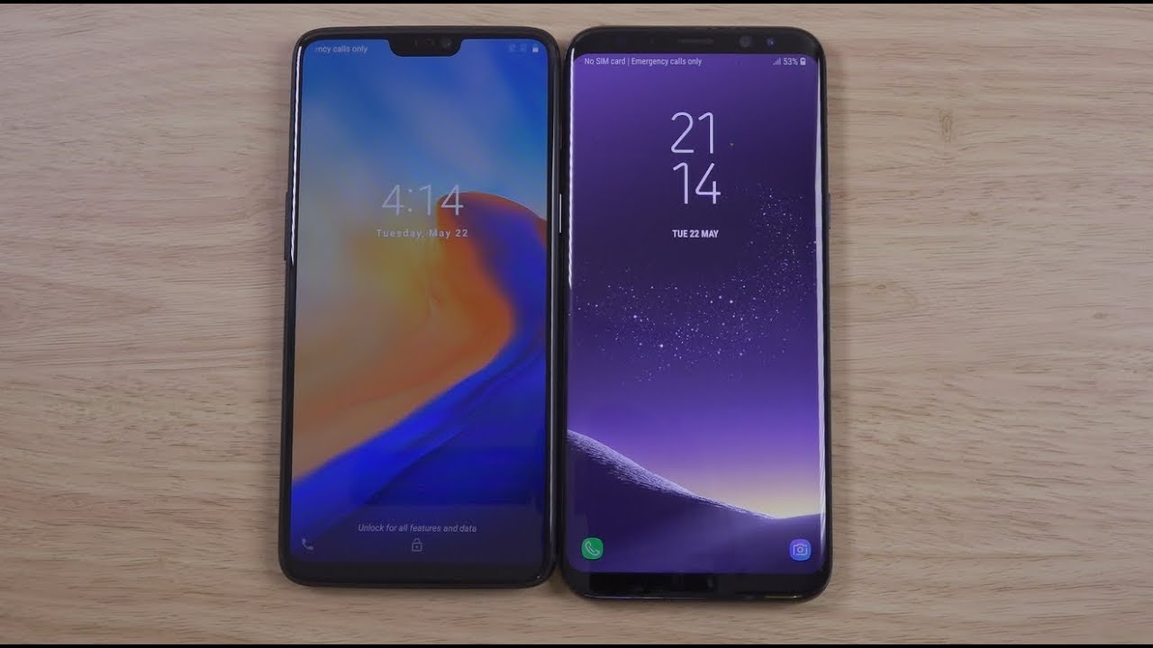 oneplus 6 vs samsung galaxy s8 which is fastest youtube