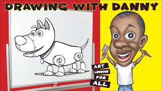 Wie zeichnet man einen Cartoon-Hund-Roboter (Zeichnung mit Danny)