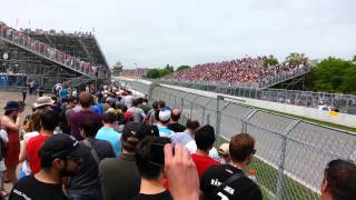 F1 2015 CANADA Grand Prix Montreal. circuit Gilles Villeneuve Corner 11 view 316 km h