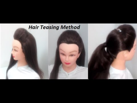 How to make Teasing Hair easy Front Puff | 3 Hairstyles - YouTube