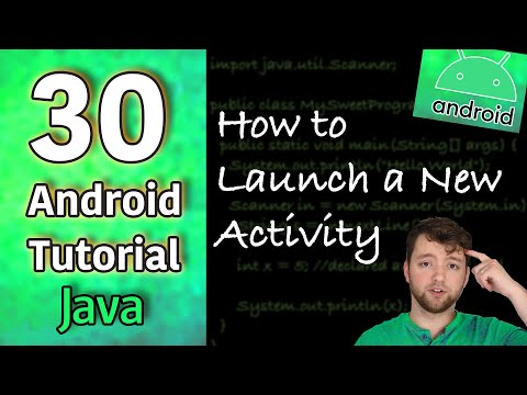 Android App Development Tutorial 30 - How to Launch a New Activity | Java thumbnail