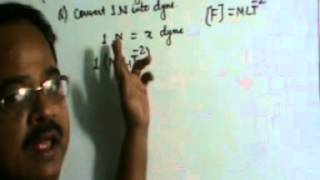 Dimensions Convert 1N into Dyne)Unit & Dimensions, Class-XI Physics