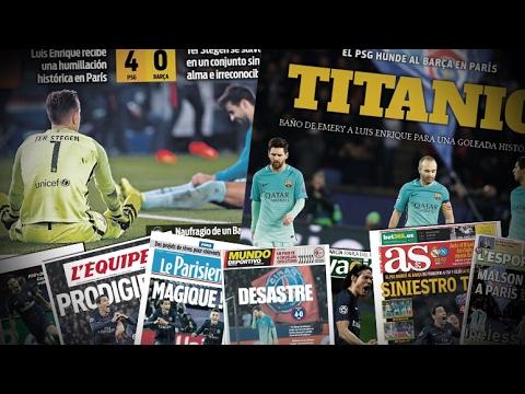 La folle revue de presse après PSG-Barça : 4-0 !