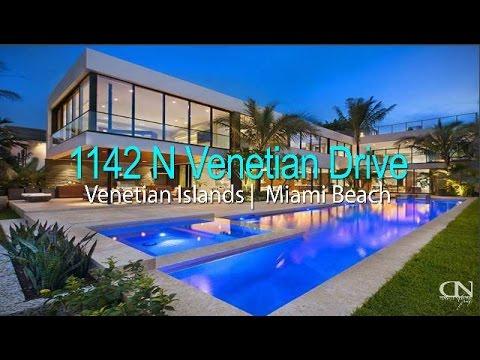 1142 N Venetian Drive -  Venetian Islands Miami Beach Modern Homes - For Sale