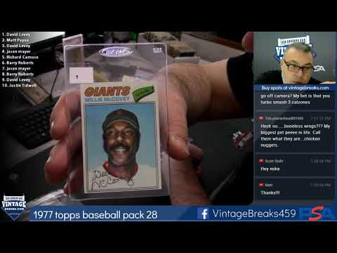2018 11 23 1977 Topps Baseball Wax Pack 28